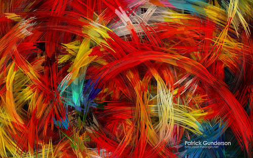 Patrick Gunderson's abstract artworks